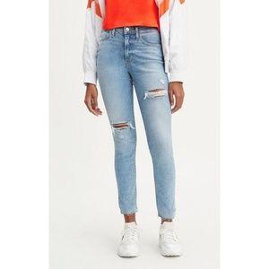 Levi 721 High Rise Skinny Distressed Jeans sz 29